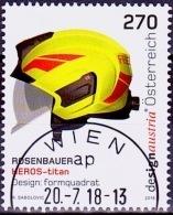Austria Österreich 2018 Rosenbauer Heros-Titan Helm USED / O / GESTEMPELT - 1945-.... 2. Republik