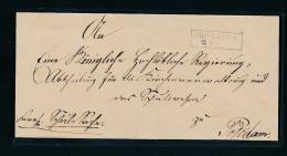 Bliesenthal -  Alter Beleg    (oo5197  ) Siehe Scan ! - Preussen