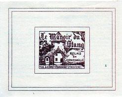 Manoir Du Stang Et Mesmeur. La Forêt-Fouesnant (29). Documents Années 50. - Folletos Turísticos