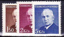 ** Tchécoslovaquie 1948 Mi 529-31 (Yv 457-9), (MNH) - Unused Stamps