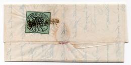 "1857 - Pontificio - Papal States - 1 Baj Annullato ""SORIANO"" Su Lettera - Papal States"