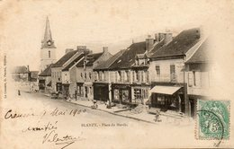 CPA - BLANZY (71) - Aspect De La Place Du Marché En 1900 - Précurseur - Otros Municipios