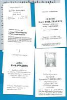 Bp    Zepperen    Philippaerts    5 Stuks - Images Religieuses