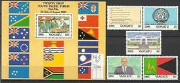VA 1990-839-44 Independent Day, VANUATU 1 X 5v + S/S, MNH - Briefmarken
