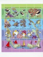 Cocos Island 1994-Tortues,poissons,coraux,bateaux YT 286/305 Feuillet***MNH - Meereswelt