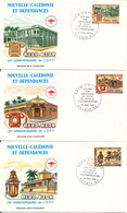 New Caledonia FDC 30-4-1983 25th Anniversary Postal Services Telephone Ocomplete Set Of 3 On 3 Covers With Cachet - FDC