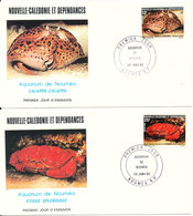 New Caledonia FDC 20-1-1982 CRABS Complete Set Of 2 On 2 Covers With Cachet - FDC