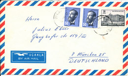 Turkey Air Mail Cover Sent To Germany - 1921-... Republic