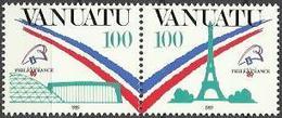 VA 1989-818-9 FRACE FILA , VANUATU 1 X 2v, MNH - Briefmarkenausstellungen