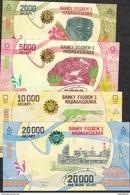 MADAGASCAR  SET : P101-104  2000,5000,10000 & 20000 ARIARY ( 2017 ) Issued 17.07.2017 UNC. - Madagascar