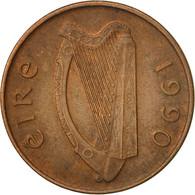 Monnaie, IRELAND REPUBLIC, Penny, 1990, TTB, Copper Plated Steel, KM:20a - Ireland