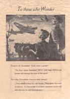 WWII WW2 German Propaganda Leaflet Tract Flugblatt, Code ACE, To Those Who Wonder, FREE SHIPPING WORLDWIDE - Old Paper