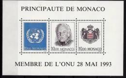 """Monaco Bloc YT 62 """" Membre De O.N.U. """" 1993 Neuf** - Blokken"""