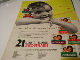 ANCIENNE PUBLICITE 21 REPAS INFANTILLES DE JACQUEMAIRE 1959 - Posters