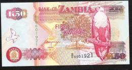 ZAMBIA  P37b  50 KWACHA   1992 UNC. - Zambia