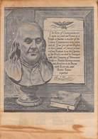 WWII WW2 German Propaganda Leaflet Tract Flugblatt, Benjamin Franklin's Prophecy, FREE SHIPPING WORLDWIDE - Old Paper