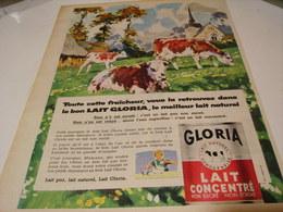 ANCIENNE AFFICHE PUBLICITE  LAIT CONCENTRE GLORIA 1959 - Posters