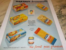 ANCIENNE PUBLICITE DES PATES ALIMENTAIRES FRANCAIS HARTAUT SCARAMELLI 1959 - Posters