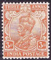 INDIA 1911 KGV 3 Anne's Dull Orange SG173 MH - India (...-1947)