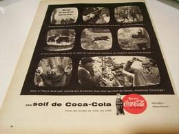 ANCIENNE PUBLICITE SOIF D AUTRE CHOSE SOIF DE COCA COLA CHASSE 1959 - Posters