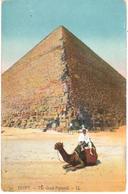 POSTAL     EGYPT (EGIPTO)  THE GREAT PYRAMID  (LA GRAN PIRAMIDE) - Pirámides