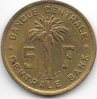 *belgium Congo 5 Francs  1952  Km 1 Xf - Congo (Belge) & Ruanda-Urundi