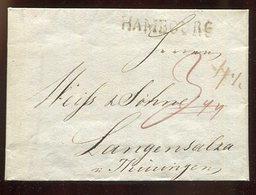 Hamburg / 1818 / Vorphila-Brief L1-Stempel HAMBOURG, Fe. 1349-37, Nach Langensalza (15342) - Deutschland