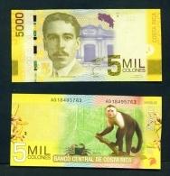 COSTA RICA  -  2013  5000 Colon  UNC Banknote - Costa Rica