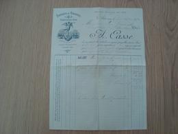 LETTRE A.CASSE FABRIQUE DE DRAGEES AIX 1890 - Alimentaire