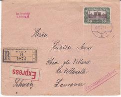 LETTRE RECOMMANDEE  , De VIENNE  1920( L0818/34) - Poststempel - Freistempel