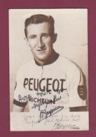250818 - PHOTO CYCLISME PEUGEOT MICHELIN A BAYSSIERE Vélo Courreur Cycliste Autographe  47 HAUTEFAGE LA TOUR - Cyclisme