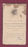250818 - FAIRE PART DE DECES NOBLESSE ARISTOCRATIE Comtesse GASTON De PERIGNY G De MONTESQUIOU FEZENSAC 1917 - Obituary Notices