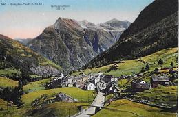 SIMPLON - DORF → Schöne Dorfansicht Ca.1910 - VS Wallis