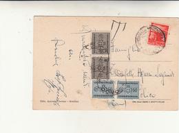Santuario Di Montevergine Per Colico Su Cartolina Affrancata Con 4 Lire E Tassata Per 2 Anno 1947 - 1946-60: Marcofilie