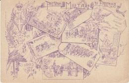 Cartolina Presidio Militare Di Palermo 1910 - Regiments