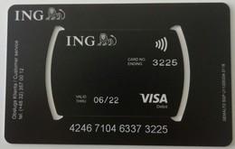 Credit Card  From Poland ING Bank Visa - Geldkarten (Ablauf Min. 10 Jahre)