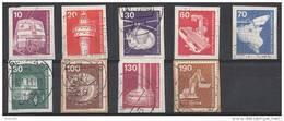 West-Duitsland - 4.500 Zegels Industrie Und Technik - O - Onafgeweekt/op Fragment - Timbres