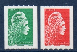 ADHESIF 1601 1602 Roulettes Marianne L'Engagée Yseult YS LV + Prio Même Numéro (2018) Neuf** - France