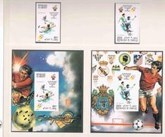 Soccer Football Djibouti #290/1B + Bl 30/1B Imperf 1982 World Cup Spain MNH ** - Wereldkampioenschap