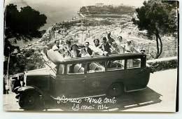 Carte-Photo - Monaco - Monte-Carlo - 29 Mai 1934 - Groupe De Touristes Dans Un Autocar - Monte-Carlo