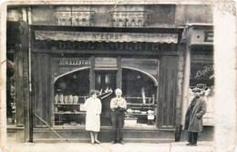 France - 14 - Carte-Photo - Rue St-Jean - Boulangerie Dans L'ancienne Coutellerie De Mr H. Lerat - Caen