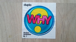 DUPLO-Button-Sprüche Aufkleber Nr. 7 Von 1983 - Süsswaren