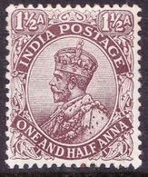 INDIA 1919 KGV 1.5 Anna's Grey Brown SG164 MNH - India (...-1947)