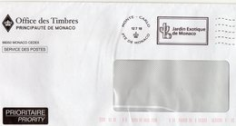 MONACO Flamme Jardin Exotique De Monaco S/env  12/7/18 - Machine Stamps (ATM)