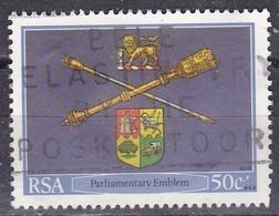 Sud Africa, 1985 - 50c South African Emblem - Nr.655 Usato° - Sud Africa (1961-...)