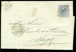 Nederland 1872 Brief Verzonden Uit Amsterdam Met Zegel NVPH 19C Met Ontvangststempels En Kastje C20 - Briefe U. Dokumente