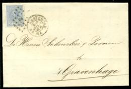 Nederland 1872 Brief Verzonden Uit Amsterdam Met Zegel NVPH 19C Met Ontvangststempels En Kastje A20 - Briefe U. Dokumente