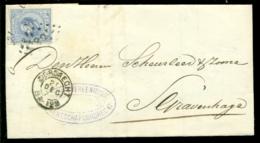 Nederland 1873 Brief Verzonden Uit Dordrecht Met Zegel NVPH 19C Met Ontvangststempels En Kastje A29 - Briefe U. Dokumente