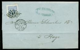 Nederland 1872 Brief Verzonden Uit Rotterdam Met Zegel NVPH 19C Met Ontvangststempels En Kastje A23 - Briefe U. Dokumente