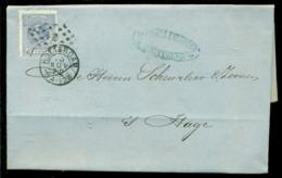 Nederland 1872 Brief Verzonden Uit Rotterdam Met Zegel NVPH 19C Met Ontvangststempels En Kastje A20 - Briefe U. Dokumente